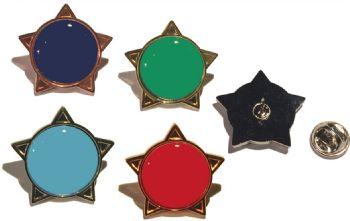 Blank Colour star badge